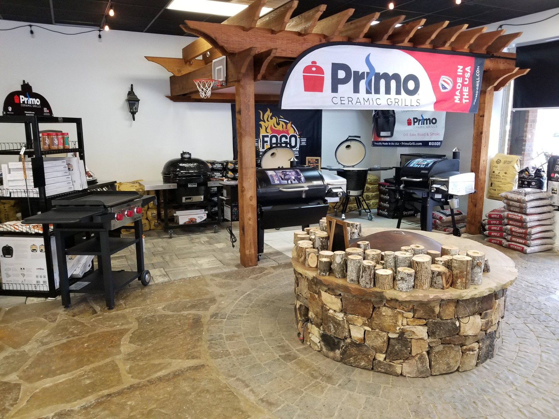 Primo grill at our show room