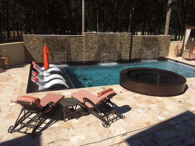Gunite pool constructed in Birmingham, Al