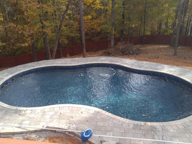 Vinyl Liner Free Form Pool Built in Hoover Alabama