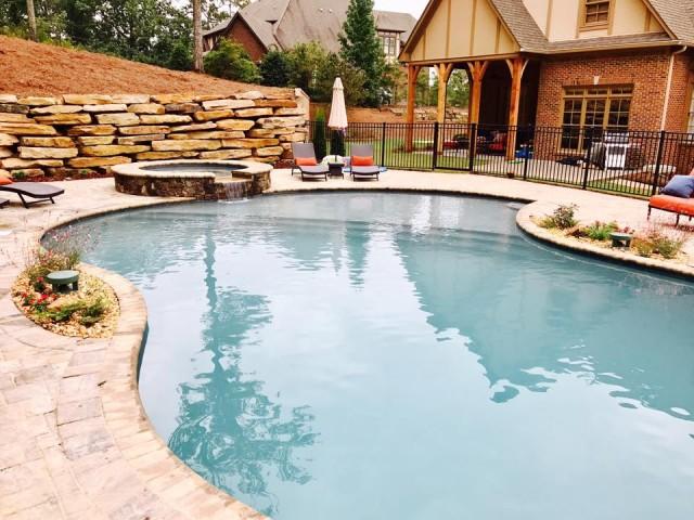 Gunite pool in Greystone Alabama