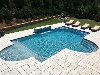Gunite Pool With Water Fall Birmingham Al