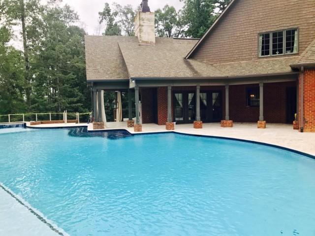 One of the largest residential gunite pools in Birmingham Alabama