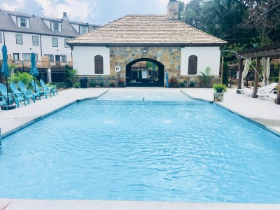 Large gunite pool constructed in Mountain Brook Alabama