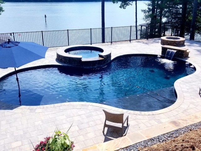 Gunite Pool Constructed at Lay Lake Alabama