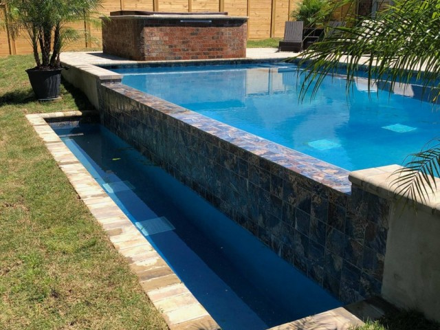 Gunite Swimming Pool With Inground Kitchen