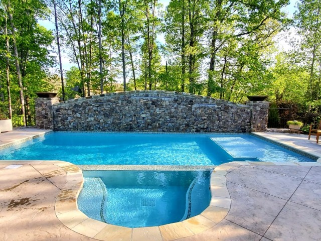 Gunite Pool Constructed at Liberty Park Birmingham Al